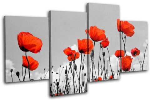 Poppies Flowers Floral - 13-1278(00B)-MP04-LO
